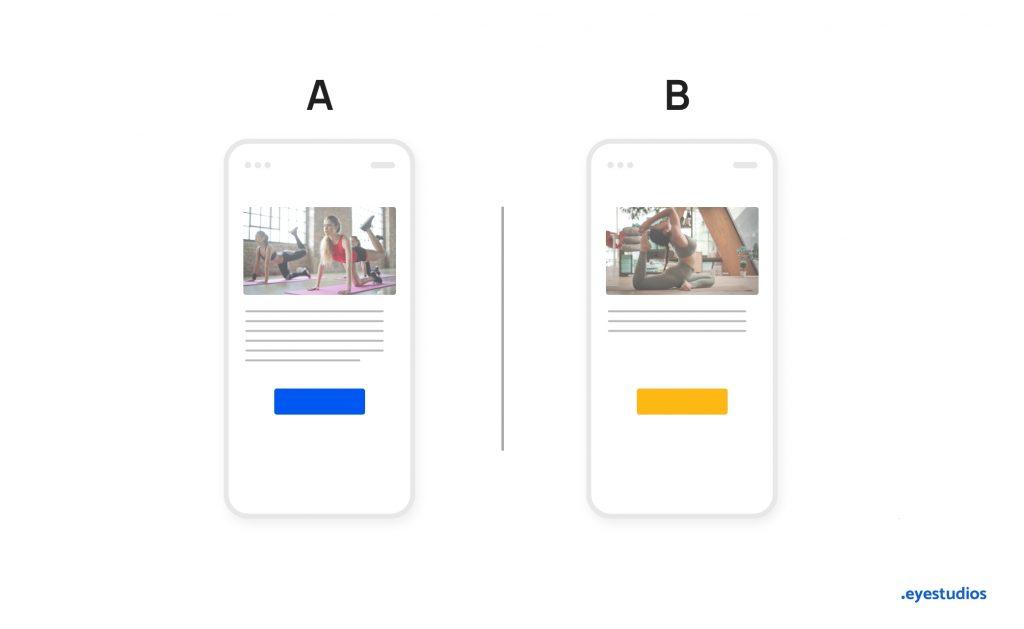 A/B Testing per UX Design
